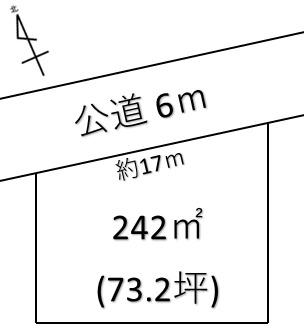 【土地図】熊谷市西別府 720万 土地