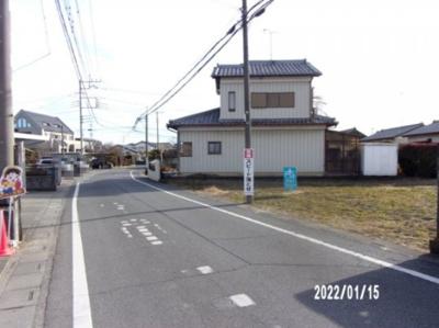 【前面道路含む現地写真】熊谷市西別府 720万 土地