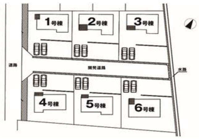 【区画図】高崎市箕郷町矢原 2号棟