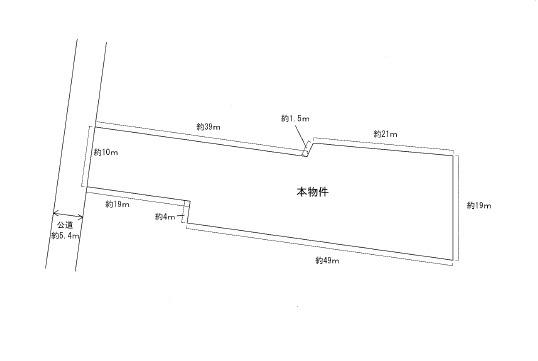 【土地図】高畠町大字亀岡 2階建て中古物件