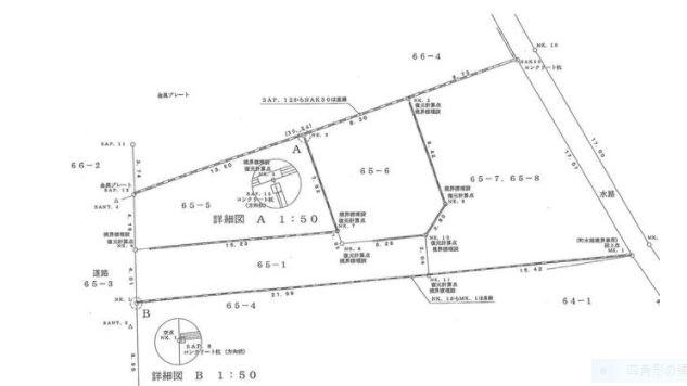 【土地図】寒川町宮山65-1 売地
