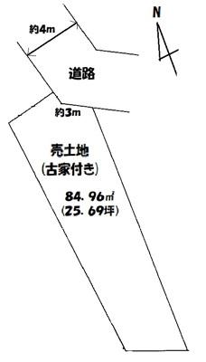 【区画図】伏見区石田大山町 中古戸建