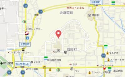 【地図】高岡ハイツ