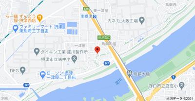 【地図】センチュリー摂津