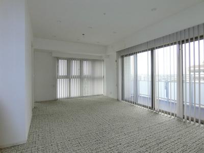 バルコニーからひかりの入る広々とした洋室です。