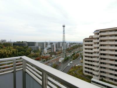 8階からの眺望です。