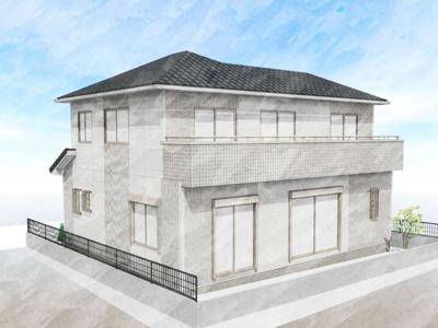 建物外観パース(図面を基に描き起こしたもので、実物と異なる場合があります。)