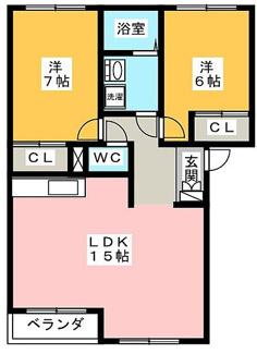 【間取り】岐阜県養老町高田一棟アパート
