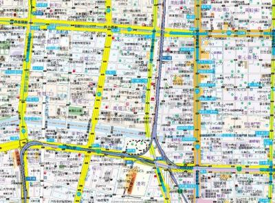 【地図】アーベル更紗北堀江
