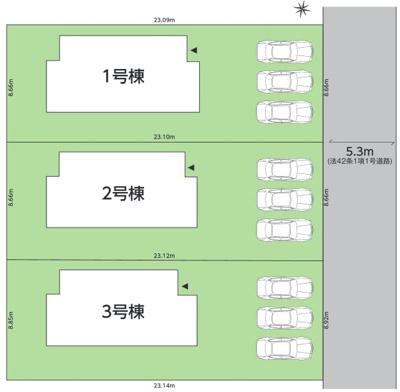 【区画図】郷ケ丘3期 全3棟
