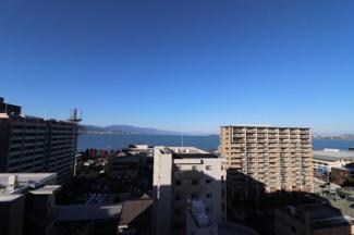 北側廊下からは琵琶湖が望めます!