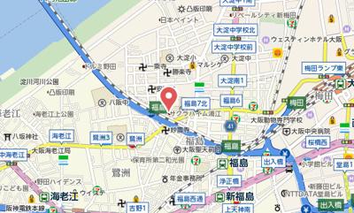 【地図】サクラハイム浦江