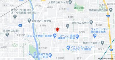 【地図】高木テラスハウス (株)Roots