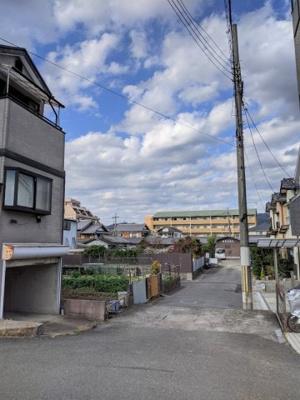 【前面道路含む現地写真】京都市山科区大宅坂ノ辻町