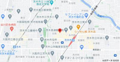 【地図】(仮称)茨木市元町 マンション