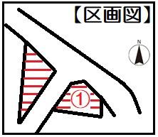 【区画図】リビング階段&全居室6帖以上のゆったり間取り♪駐車2台可能☆山科区日ノ岡ホッパラ町