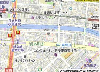 【地図】ベスティエ秋葉原