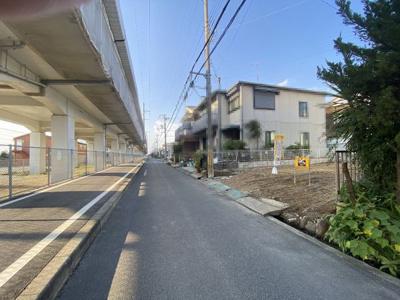 【前面道路含む現地写真】播磨町古田2丁目土地