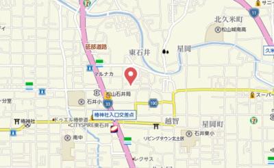 【地図】ビバーラ石井・