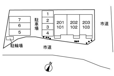 【区画図】サンライズ・パレ