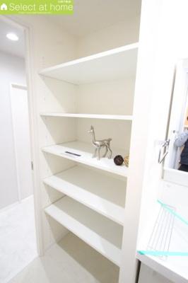 洗面所も収納が多いとタオルや洗剤をいれたり便利です