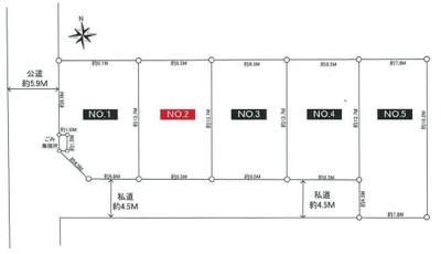 【区画図】海老名市上今泉1丁目