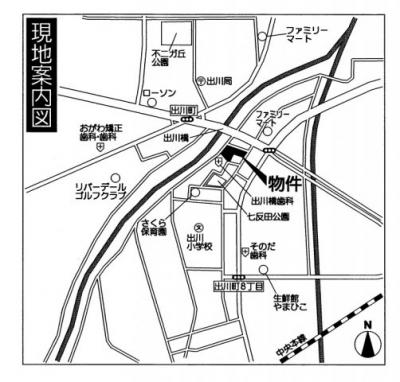 【地図】GRAFARE出川町2期