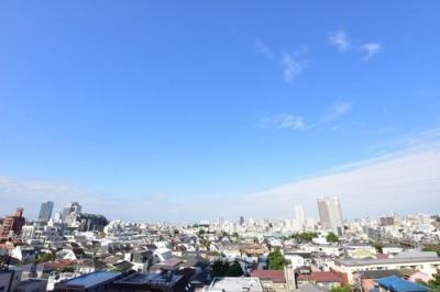 8階部分のお部屋からは、都心の街並みを一望できます。