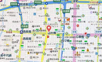 【地図】ル・マージュ新町