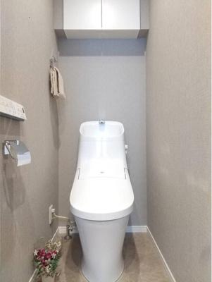 温水洗浄便座付きのトイレで気持ちよくお使いいただけます。
