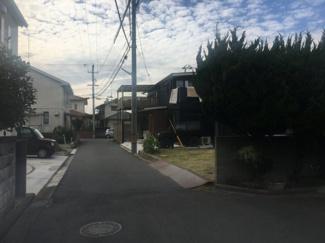 【前面道路含む現地写真】松山市 みどりケ丘 売土地 36.59坪