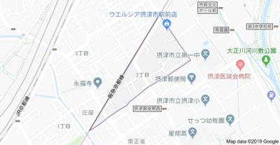 【地図】ヴィルヌーブ庄屋 WIFI無料