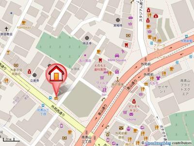 銀座線「外苑前駅」徒歩3分の好立地!