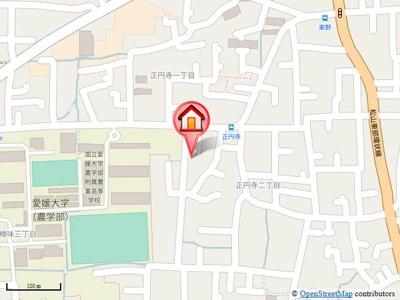 【地図】コーポプレジール A棟