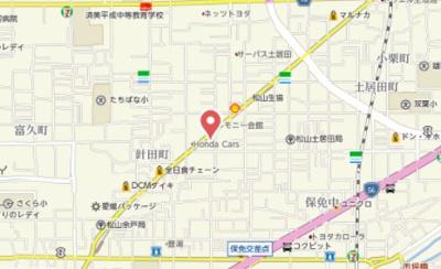 【地図】ジョイフルプラザ土居田