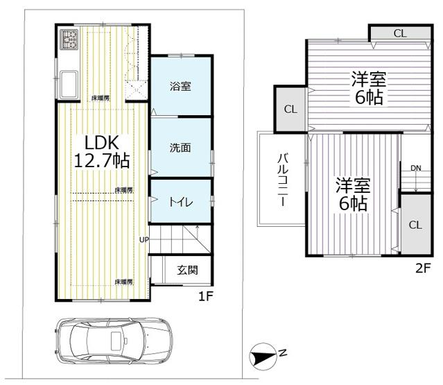 ◆全改装済み美宅◆各沿線「山科駅」徒歩3分◆床暖房◆リビング階段◆山科区上野御所ノ内町