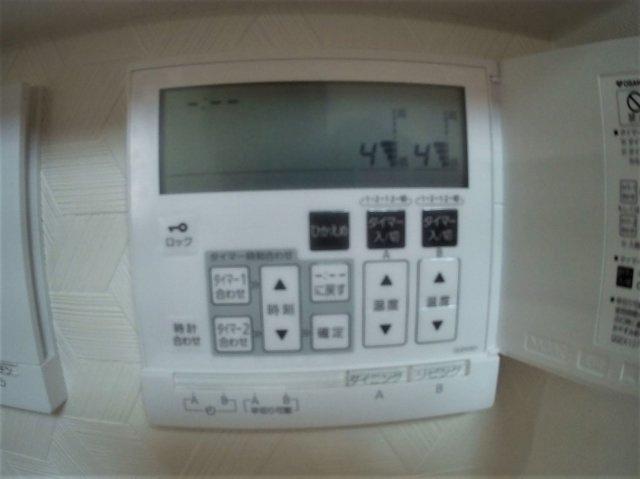 床暖房操作パネル