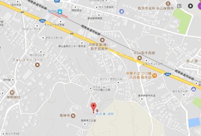 【地図】アーバンハイツ米ノ井
