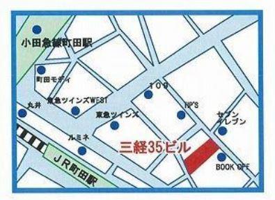 【地図】三経35ビル