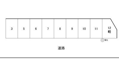 【区画図】長府古城町MN駐車場