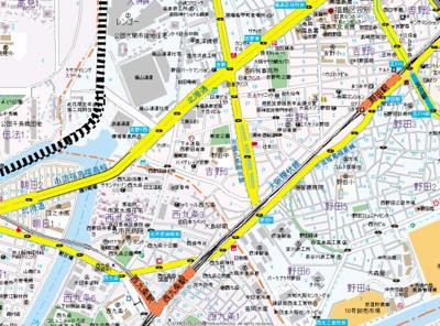 【地図】JPレジデンス西九条