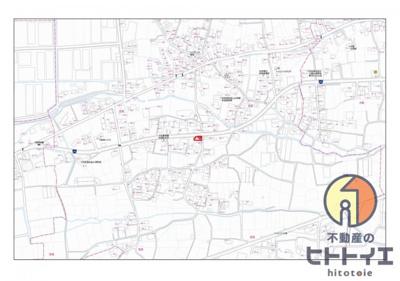 【地図】売地)八女市忠見 50.86坪