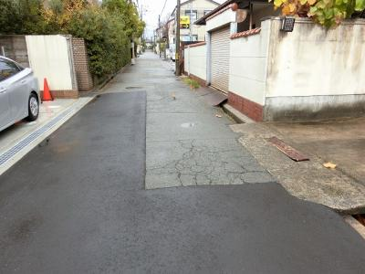 【現地写真】前面道路、道幅約4.1m♪