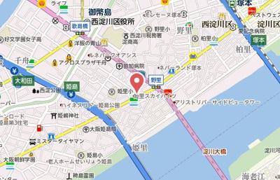 【地図】スワンズ大阪アクシオン