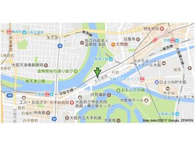 【地図】フォレストガーデン天満橋Ⅰ