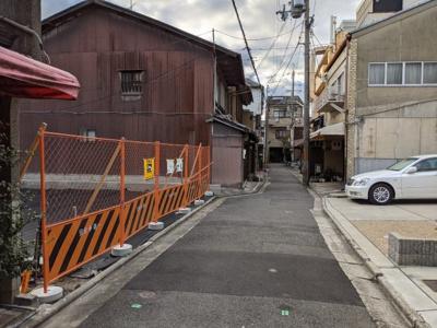 【前面道路含む現地写真】京都市下京区西魚屋町