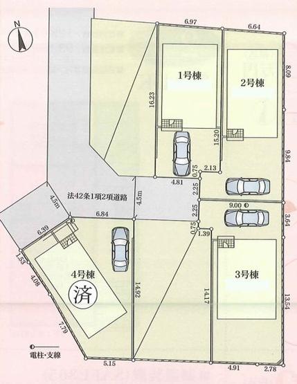 区画図(秦野市名古木 新築戸建て)