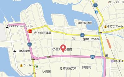 【地図】ダイアパレス松山ポートアネックス