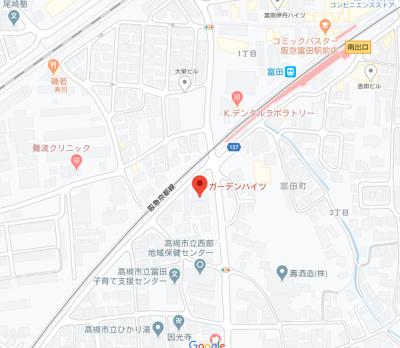 【地図】ガーデンハイツ (株)Roots