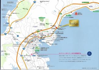 【地図】プレミアムコート金武屋嘉
